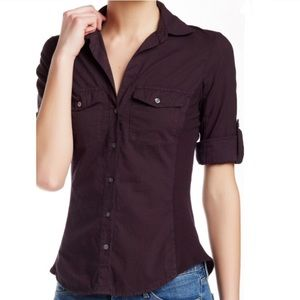 James Perse Button Front Shirt in Sz 1
